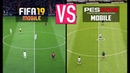 FIFA 19 MOBILE VS PES 2019 MOBILE (GRAPHICS COMPARISON) - iOS/Android Gameplay