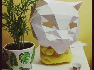 Pepakura Cat by Ki Yoshiko