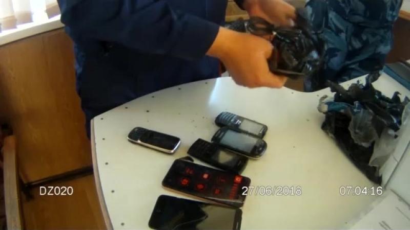 Изъятие средств мобильной связи в термосе в ИК-5 г. Камышина
