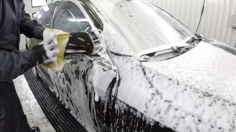 Трехфазная мойка Mercedes S-класс ACID SHAMPOO SIO2