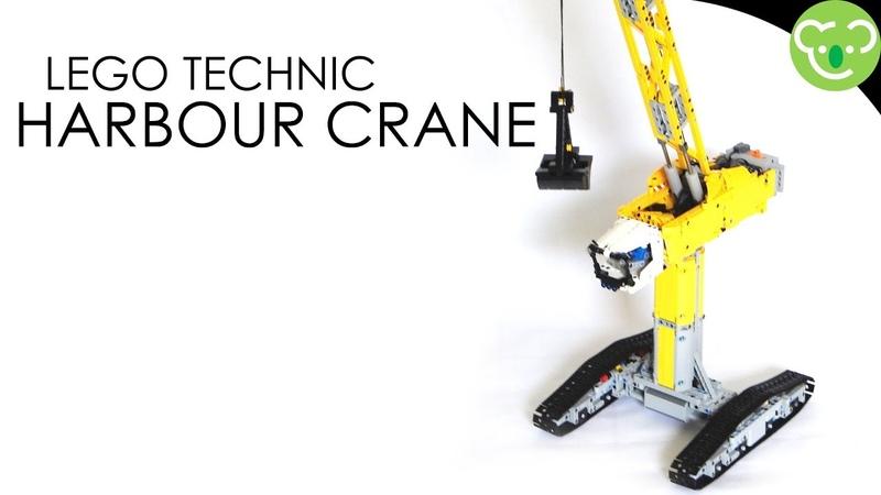 Harbour Crane Version 1 MOC Lego Technic with double SBrick
