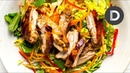 My BEST Sticky 5 Spice Chicken Salad Recipe! QUICK DINNER!