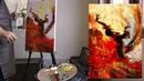 Урок живописи Танцовщица. Масло, кисти и мастихин, 2 часть