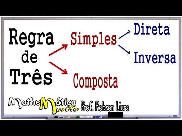 REGRA DE TRÊS SIMPLES E COMPOSTA - Prof. Robson Liers - Mathematicamente