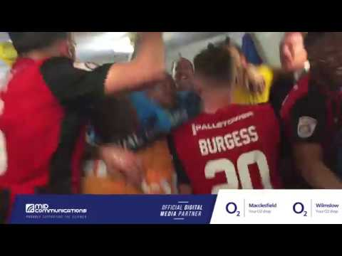 Dressing Room Celebrations As Macclesfield Win The National League