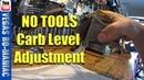 How to adjust carburetor float level Keihin - No tools required - KTM250/300 2 stroke