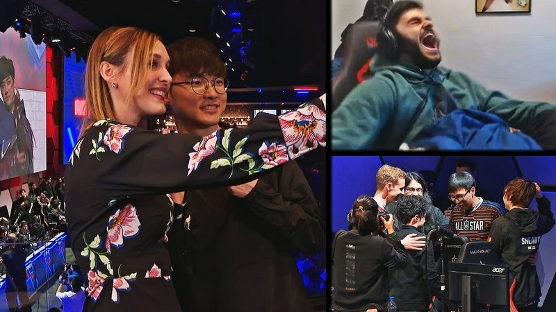 SJOKZ AND FAKER TAKE A SELFIE TOGETHER | MAKE WAY MIGHTY NIGHTBLUE3 COMING THROUGH | LOL MOMENTS