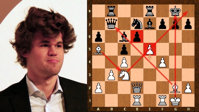 Magnus Carlsen uses beautiful pawn sacrifice vs Rapport to create Kingside pressure opportunities