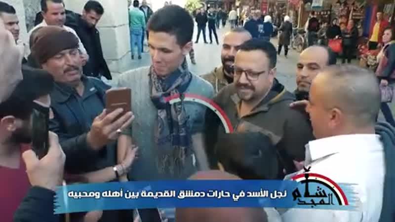حافظ بشار الأسد. أمام الجامع الأموي في دمشق اليوم.