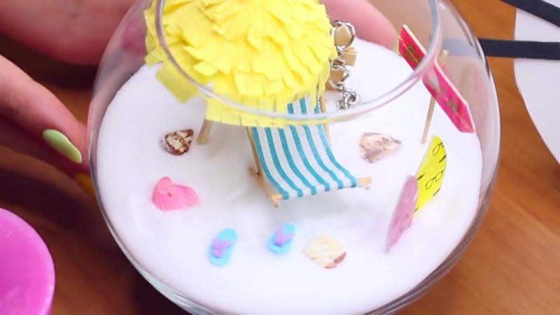 DIY миниатюрный пляж в бокале или вазе _ Декор рабочего стола _ Антистресс 🐞 Af