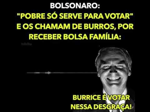 Candidato Jair Bolsonaro Critica familias pobres que recebem o Bolsa Familia