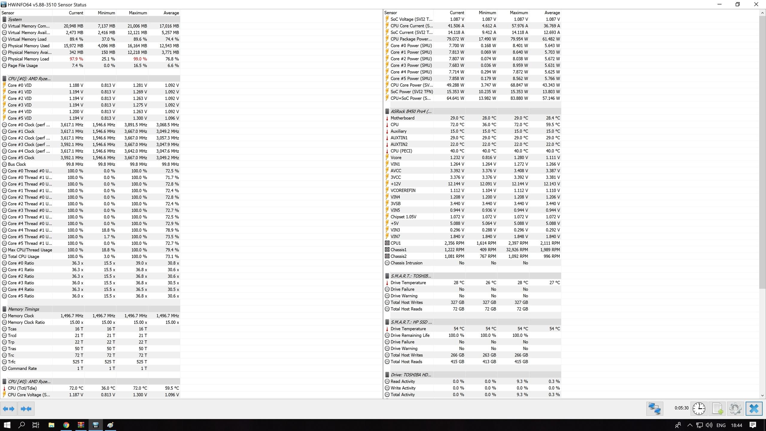 b450 pro4 + ryzen 5 2600 high temperature - ASRock Forums