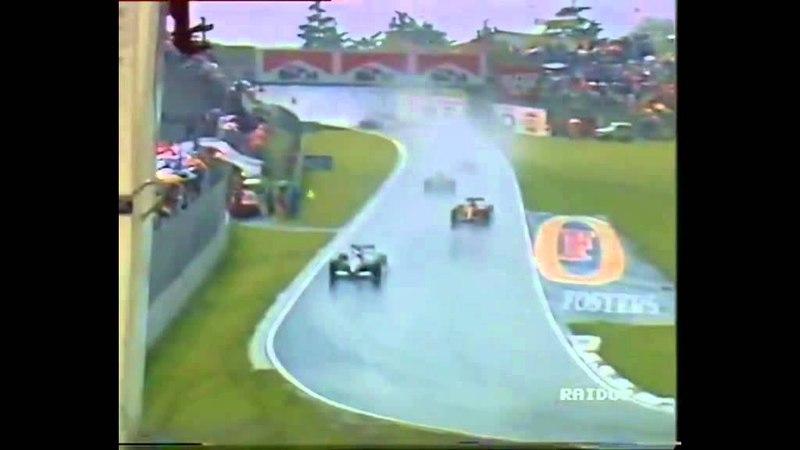 Alain Prost trapalhão rodando na volta de apresentação Formula 1 1991 GP San Marino
