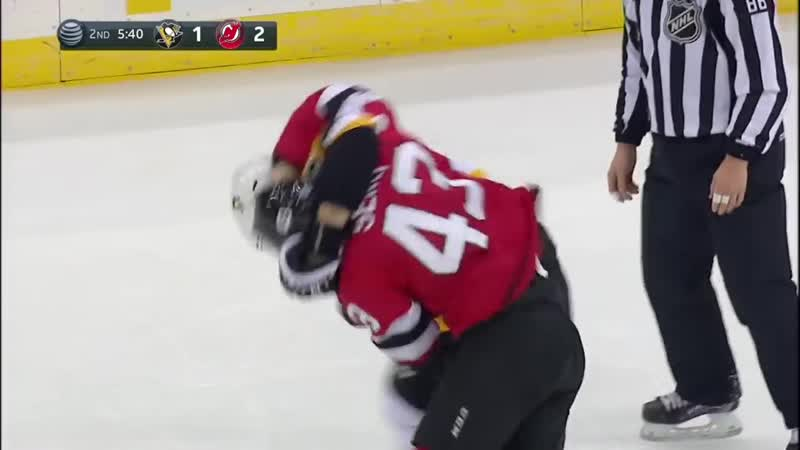 Phil Kessel and Brett Seney Drop The Gloves During A Potential Scoring Chance Fo