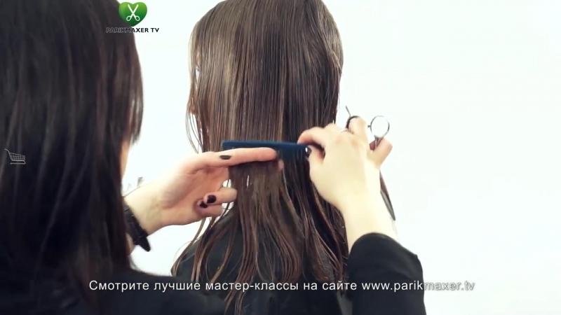 Удлиненные слои на вьющихся волосах