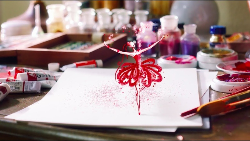 Estee Lauder: Paper Fashion for Holiday 2017