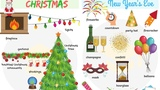 Christmas WORDS Christmas, New Years Eve and Easter Vocabulary in English
