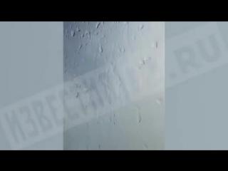 Самолет МЧС в ходе учений в Подмосковье окатил водой гаишников