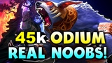 45000 GOLD 107 MIN! - ODIUM vs REAL NOOBS! - DreamLeague Minor DOTA 2