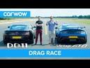 Aston Martin Vantage GT8 vs DB11 - DRAG RACE, ROLLING RACE BRAKE TEST | Mat vs Shmee pt 3/4