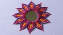 Hand Embroidery | Mirror Work Stitch | Shisha Work | Hand Embroidery Designs 20