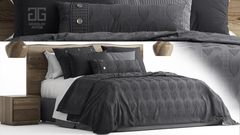 №87.Моделирование кровати altacorte ALTRE VERSIONI в 3d max и marvelous designer
