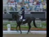 Kyra Kyrklund Edinburg - Barcelona olympic dressage. 1992 г.