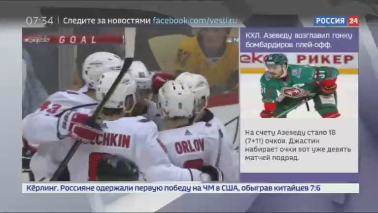 Новости на Россия 24 • Александр Овечкин провел 1000 матч за Вашингтон Кэпитэлз в НХЛ