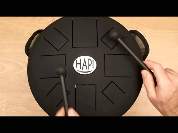 HAPI Drum Slim Tuneable Steel Tongue Drum, Over 24 adjustable scales in G, F and F