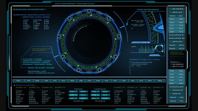 Stargate Atlantis Pegasus Gate Diagnostic Screen Saver