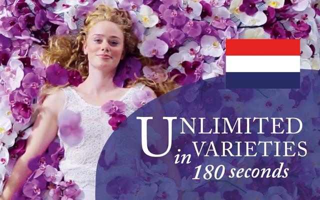 Unlimited in varieties in 180 seconds (Nederlands)