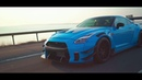 Black Knight GT R R35 to Baby Blue x Armytrix Exhaust Liberty Walk AccuAir Suspension