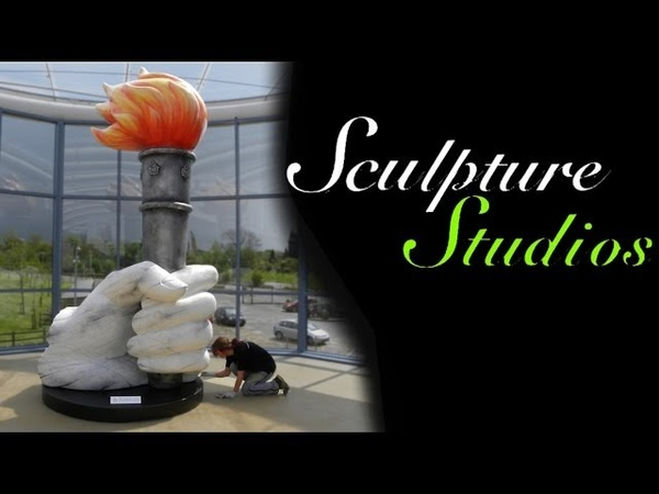 Giant Polystyrene / Styrofoam Hand and Torch by Sculpture Studios