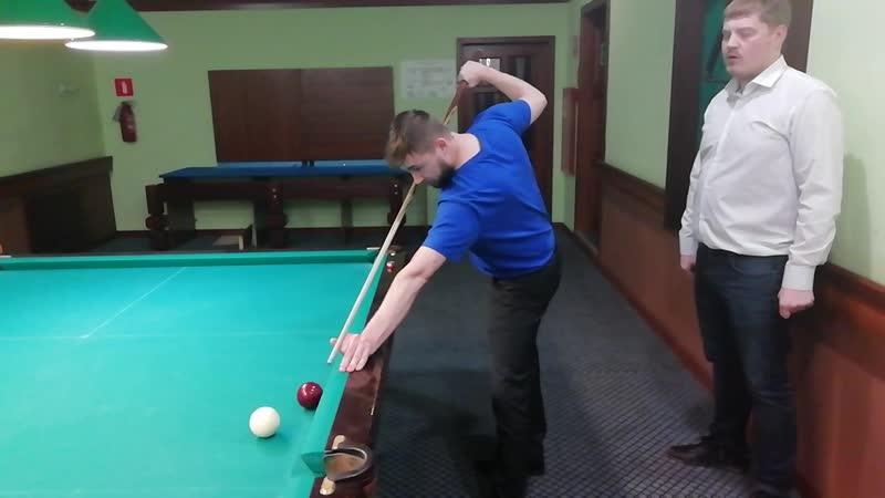 Школа бильярда Побережникова Даниила изучения трюка Джамп