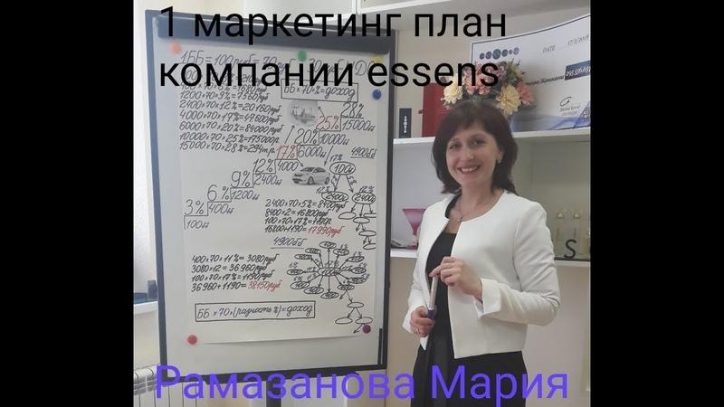 1 маркетинговый план компании essens