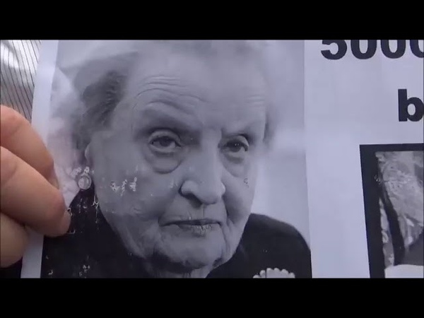 042016 Čakáme na pani Albright - Protest proti Albrightovej a Globsec v Bratislave