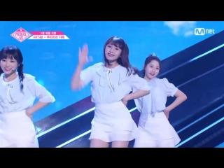PRODUCE 48 1:1 eye contact | Курихара Саэ (HKT48) - Gfriend Love Whisper Team 2 group battle