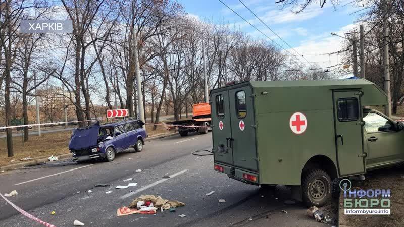 У Харкові військова швидка потрапила в аварію: троє людей доправлені до лікарні