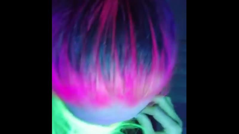 Светящиеся волосы в темноте