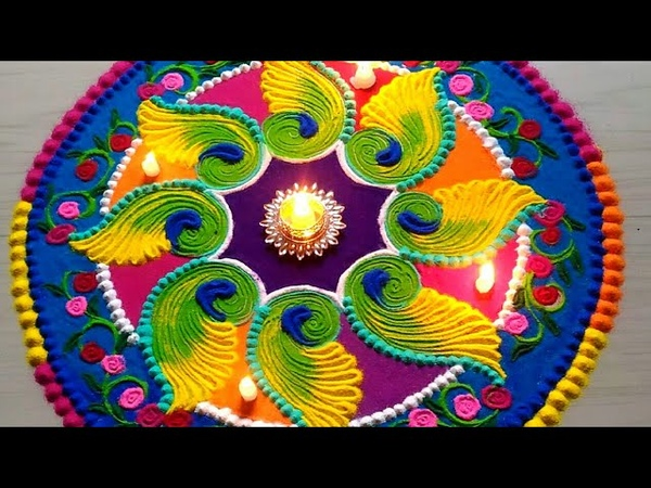 Beautiful FESTIVAL'S rangoli designs with colours