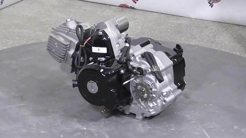 Двигатель ВАНЧАНГ 110 см3 (1P52, 152FMH) Альфа, схема КПП по кругу