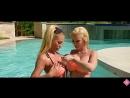 HUGE BBS BLONDES 👙🍑 Lesbian Tease in Pool