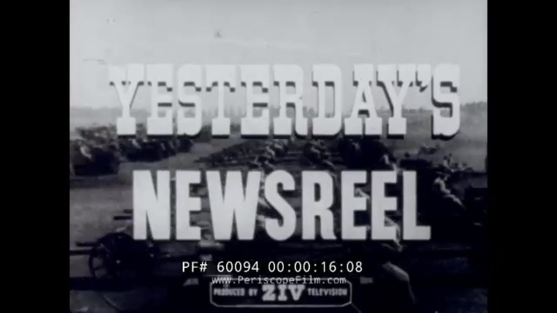 YESTERDAYS NEWSREEL 1920 PRESIDENTIAL ELECTION JOHNNY WEISSMULLER LEND-LEASE 60094