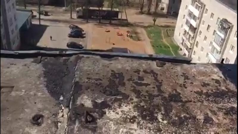 Напомним, что в результате обрушившейся на наш город субботней непогоды в доме 25 по улице Гагарина, находящегося на обслуживани