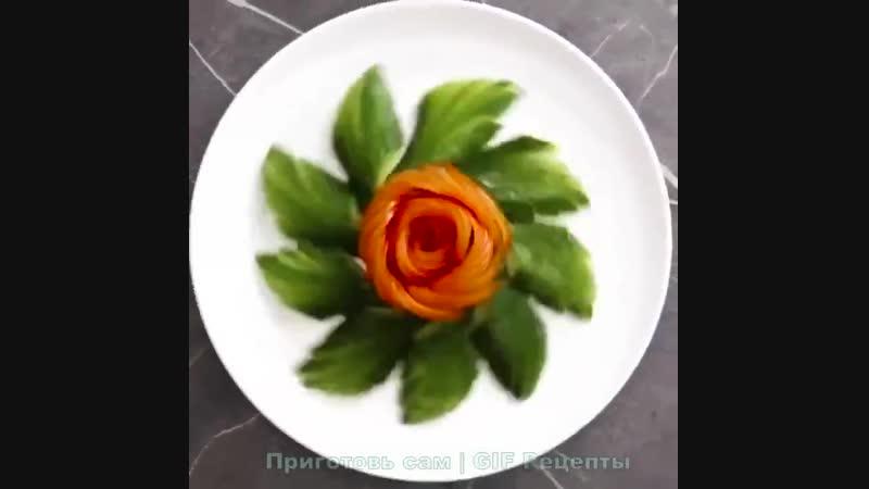 Нарезка! Как из обычных овощей сделать шедевр! yfhtprf! rfr bp j,sxys[ jdjotq cltkfnm itltdh!
