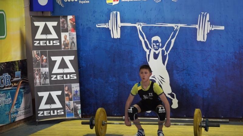 Обласні змагання з важкої атлетики! Поштовх - 54 кг!