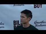 Harry Shum Jr at the Billy Boy Premiere at Laemmle Music Hall in Beverly Hills.