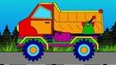 Развивающие мультфильмы про машинки и цвета. Волшебная Радуга. Самосвал