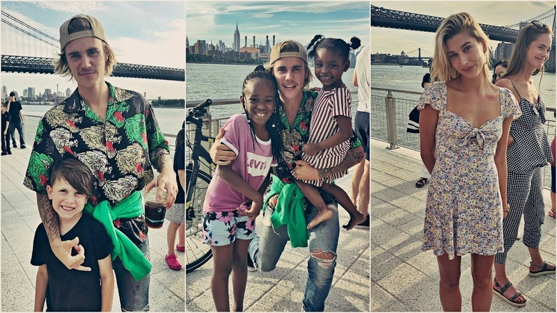 Justin Bieber and Hailey Baldwin spotted out at the Domino Park in NY. (June 16, 2018)