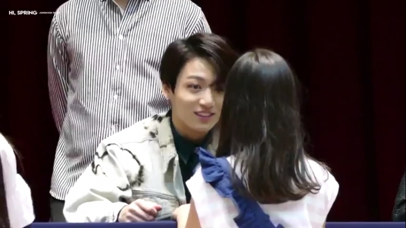 Jungkook with baby girl 180527